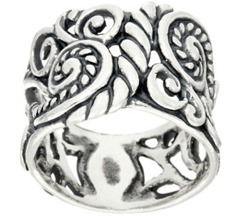 Carolyn Pollack Sterling Silver Signature Design Band Ring - J328833