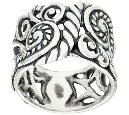 Carolyn Pollack Sterling Silver Signature Design Band Ring