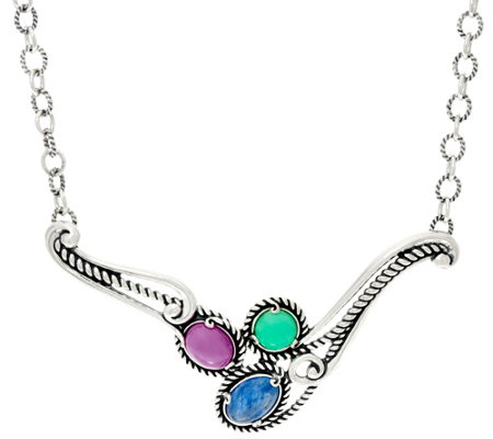 Carolyn Pollack Bay Breeze Sterling Silver Statement Necklace