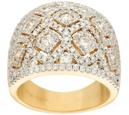 """As Is"" Estate Style Diamond Ring, 14K Gold, 1.90 cttw by Affinity"