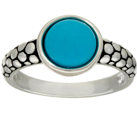 """As Is"" Michael Dawkins Sterling Sleeping Beauty Turquoise Ring"