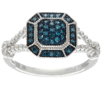 Pave' Color Diamond Ring, Sterling, 1/4 cttw, by Affinity - J332933