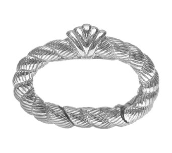 Judith Ripka Sterling Textured Status Link Component - J336833