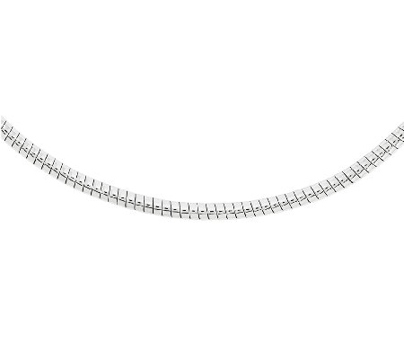 Stainless Steel 5mm Round Omega Necklace