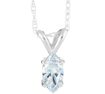 Marquise Diamond Pendant,14K Gold 1/2 cttw, by Affinity - J341433