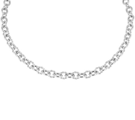 "Judith Ripka Verona 20"" Sterling Necklace 43.0g"
