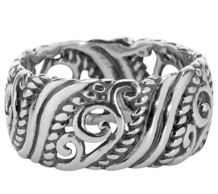 Carolyn Pollack Signature Sterling Band Ring