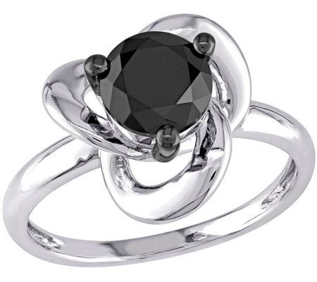 1.00 ct Black Diamond Ring, 1.00 ct, Sterling,by Affinity
