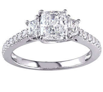 Cushion Cut Diamond Ring, 14K, 1.40 cttw, by Affinity - J344433