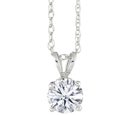 Round Diamond Solitaire, 14K White Gold, 1 ct,by Affinity