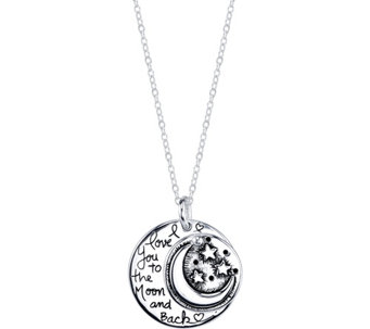 Extraordinary Life Sterling Moon Pendant w/ Chain - J345333
