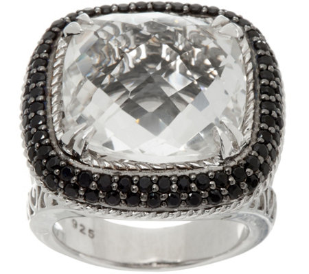 DeLatori Sterling Silver Gemstone Cushion Cut Ring