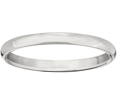 Men's 18K White Gold 2mm Half-Round Wedding Band