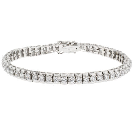 "Epiphany Platinum Clad Diamonique 4.40 ct tw 6-1/2"" Bracelet"