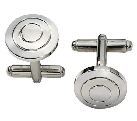 Forza Stainless Steel Round Cuff Links