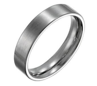 Forza Men's 5mm Steel Flat Brushed Ring - J109534