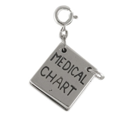 Sterling Medical Chart Charm