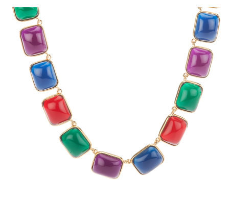 Kenneth Jay Lane's Regal Cabochon Link Necklace