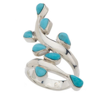 """As Is"" Dominique Dinouart Sterling Turquoise Ring - J278534"
