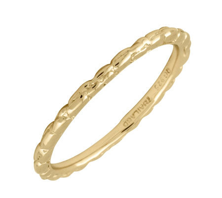 Simply Stacks 18K Yellow Gold-Plated Sterling Ring - Twisted