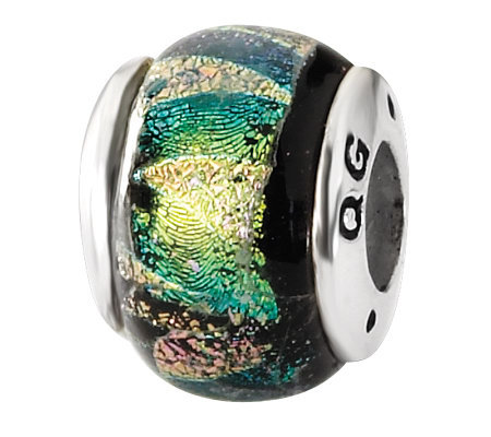 Prerogatives Sterling Multicolored Dichroic Glass Bead