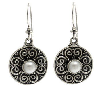 Novica Artisan Crafted Sterling 'Spring Blossoms' Earrings - J307534