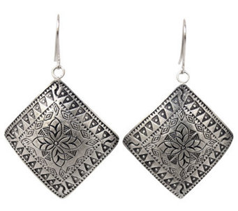 "Novica Artisan Crafted Sterling ""Hill Tribe Sheild"" Earrings - J310034"