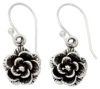 "Novica Artisan Crafted Sterling ""Rose Garden"" Earrings - J310434"