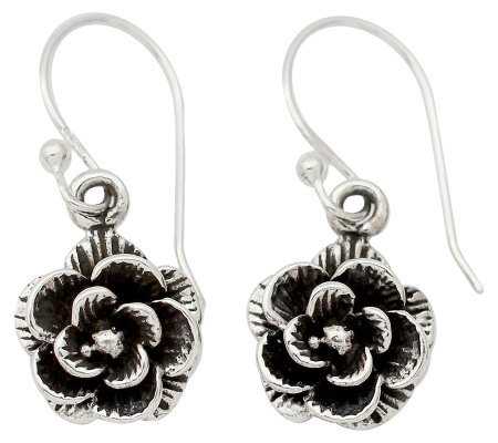 "Novica Artisan Crafted Sterling ""Rose Garden"" Earrings"