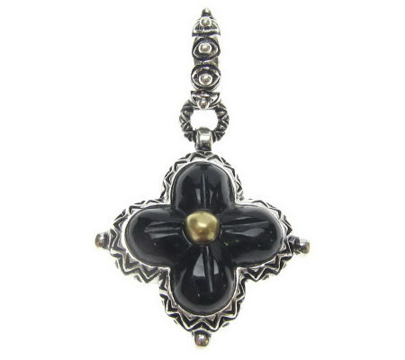 Barbara Bixby Sterling Flower Charm, 18K