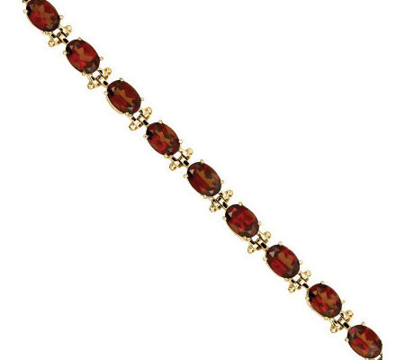 "7"" Gemstone Tennis Bracelet, 14K Gold"