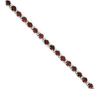 "7"" Sterling Gemstone Tennis Bracelet - J311934"