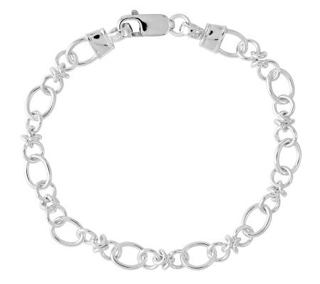 "Sterling 7-1/2"" Polished Link Bracelet"