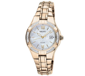 Seiko Women's Goldtone Diamond Accent Watch - J315434
