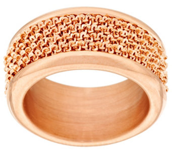 """As Is"" Bronzo Italia Wrapped Margherita Chain Band Ring - J320234"