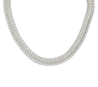 "Sterling Silver 20"" Woven Necklace by Silver Style - J320734"