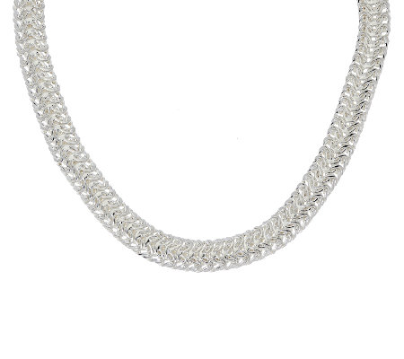 "Sterling Silver 20"" Woven Necklace by Silver Style"