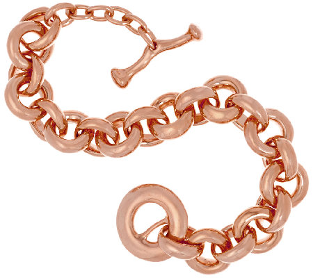 RLM Bronze Rose Sculpted Oversized Rolo Link Toggle