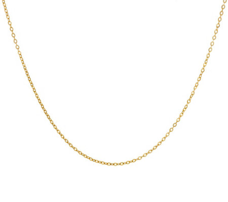 """As Is"" Vicenza Gold 18"" Oval Cable Link Chain Necklace 14K"
