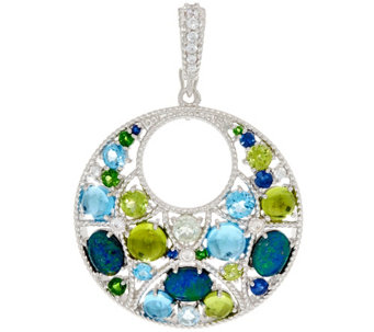 Judith Ripka Sterling 2.50 cttw Multi-Gemstone Enhancer - J331034