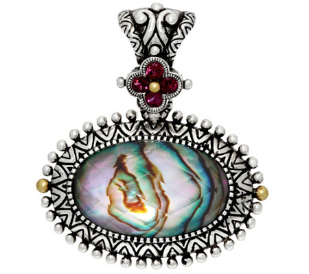 Barbara Bixby Sterling & 18K Abalone Doublet Enhancer
