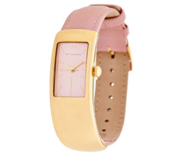 H by Halston Half Cuff Leather Watch with Adjustable Strap - J332934