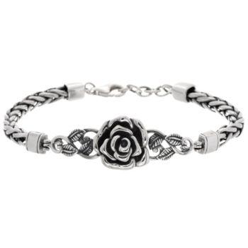 Sterling Silver Rose Spiga Bracelet by Or Paz 21.0g