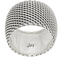 JAI Sterling Silver Mesh Band Ring - J353034