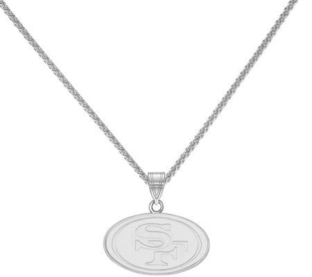 "Sterling NFL Small Pendant with 18"" Chain"