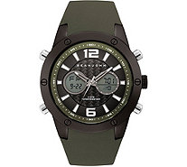 Sean John Men's Analog Digital Dark Green Silicone Watch - J380834