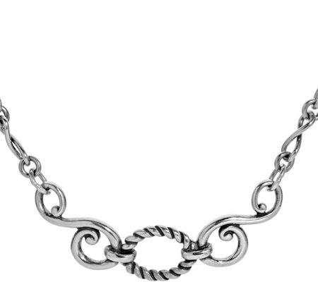 Carolyn Pollack Sterling Infinity Plaque Necklace