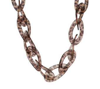 "Kenneth Jay Lane's Fashion Oval Link 31-1/2"" Adj. Necklace - J269535"