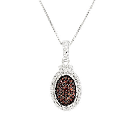 Color Diamond Oval Pendant, Sterling, 1/4 cttw, by Affinity