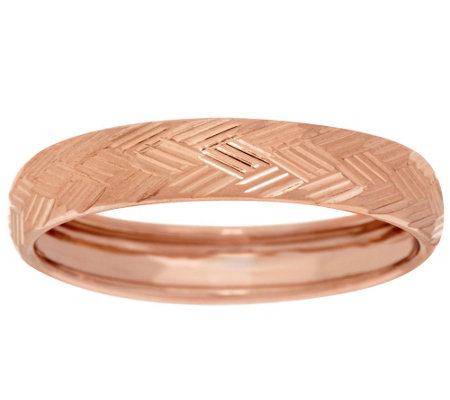"""As Is"" 14K Gold Textured Band Ring"